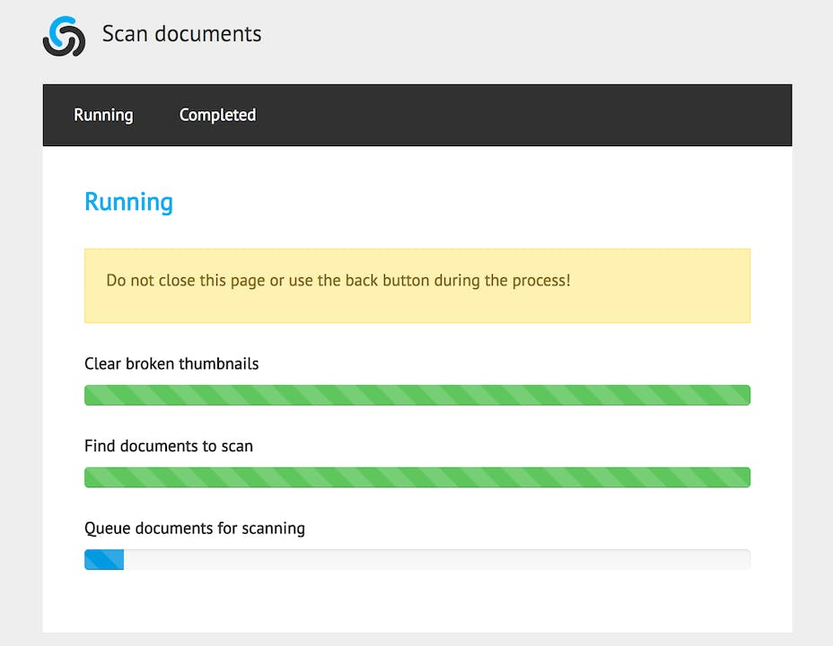 Batch scanning existing documents