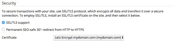 Configure Let's Encrypt for this domain.