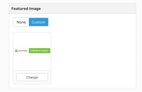 How to set your featured image