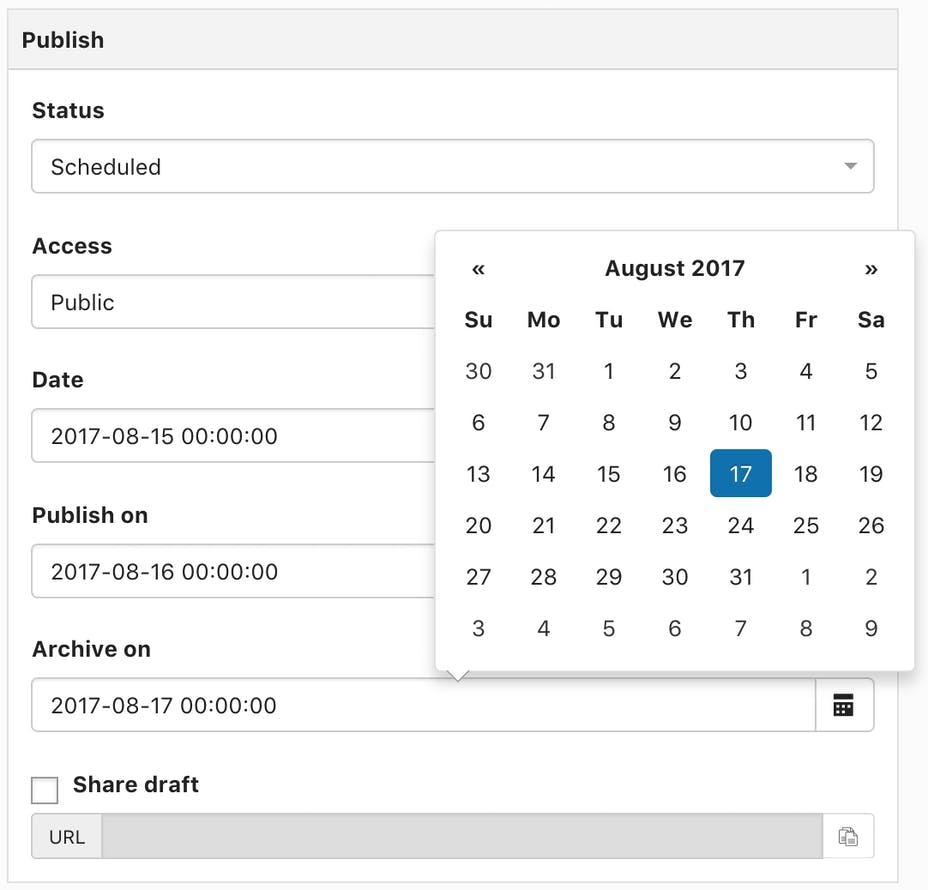 Article scheduling