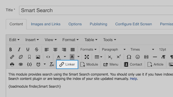 Linker editor button