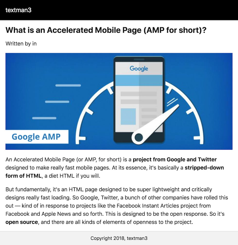 Boost performance on mobile devices with AMP